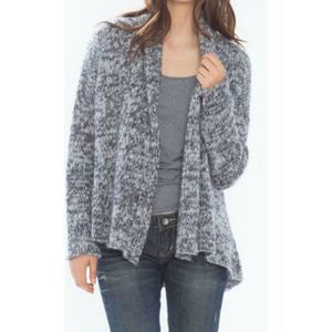 Wooden Ships Marled Knit Open Cardigan Sweater S